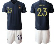 Wholesale Cheap France #23 Areola Home Soccer Country Jersey