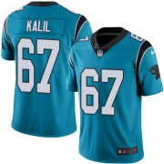 Wholesale Cheap Nike Panthers #67 Ryan Kalil Blue Men's Stitched NFL Limited Rush Jersey