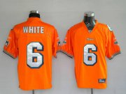 Wholesale Cheap Dolphins Pat White #6 Orange Stitched NFL Jersey