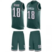 Wholesale Cheap Nike Eagles #18 Jalen Reagor Green Team Color Men's Stitched NFL Limited Tank Top Suit Jersey