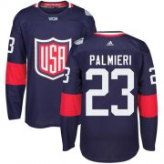 Wholesale Cheap Team USA #23 Kyle Palmieri Navy Blue 2016 World Cup Stitched NHL Jersey