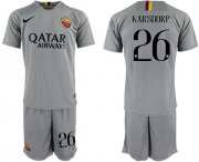 Wholesale Cheap Roma #26 Karsdorp Away Soccer Club Jersey