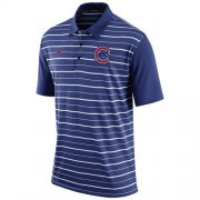 Wholesale Cheap Men's Chicago Cubs Nike Royal Dri-FIT Stripe Polo