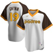 Wholesale Cheap San Diego Padres #19 Tony Gwynn San Nike Home Cooperstown Collection Player MLB Jersey White