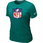 Wholesale Cheap Women's Nike NFL Logo NFL T-Shirt Light Green