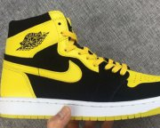 Wholesale Cheap Air Jordan 1 Retro Shoes Yellow/Black-White