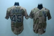 Wholesale White Sox #45 Bobby Jenks Stitched Camouflage Baseball Jersey