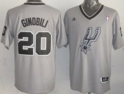 Wholesale Cheap San Antonio Spurs #20 Manu Ginobili Revolution 30 Swingman 2013 Christmas Day Gray Jersey