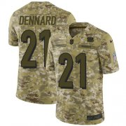 Wholesale Cheap Nike Bengals #21 Darqueze Dennard Camo Men's Stitched NFL Limited 2018 Salute To Service Jersey