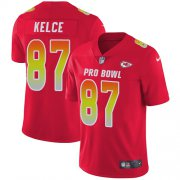 Wholesale Cheap Nike Chiefs #87 Travis Kelce Red Men's Stitched NFL Limited AFC 2018 Pro Bowl Jersey