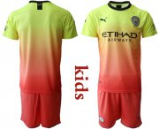 Wholesale Cheap Manchester City Blank Away Kid Soccer Club Jersey