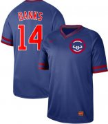 Wholesale Cheap Nike Cubs #14 Ernie Banks Royal Authentic Cooperstown Collection Stitched MLB Jersey