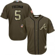 Wholesale Cheap Braves #5 Freddie Freeman Green Salute to Service Stitched Youth MLB Jersey