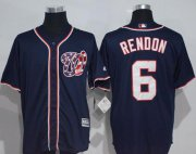 Wholesale Cheap Nationals #6 Anthony Rendon Navy Blue New Cool Base Stitched MLB Jersey