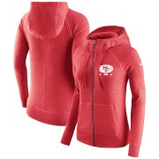 Wholesale Cheap San Francisco 49ers Nike Women's Gym Vintage Full-Zip Hoodie Scarlet