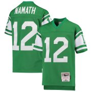 Wholesale Cheap Youth New York Jets #12 Joe Namath Mitchell & Ness Green 1968 Legacy Retired Player Jersey