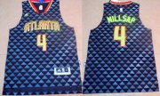 Wholesale Cheap Men's Atlanta Hawks #4 Paul Millsap Revolution 30 Swingman 2015-16 New Black Jersey