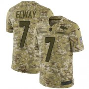 Wholesale Cheap Nike Broncos #7 John Elway Camo Men's Stitched NFL Limited 2018 Salute To Service Jersey