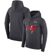 Wholesale Cheap NFL Men's Tampa Bay Buccaneers Nike Anthracite Crucial Catch Performance Pullover Hoodie