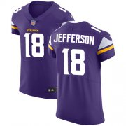 Wholesale Cheap Nike Vikings #18 Justin Jefferson Purple Team Color Men's Stitched NFL Vapor Untouchable Elite Jersey