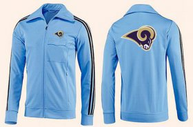 Wholesale Cheap NFL Los Angeles Rams Team Logo Jacket Light Blue