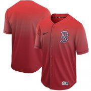 Wholesale Cheap Nike Red Sox Blank Red Fade Authentic Stitched MLB Jersey