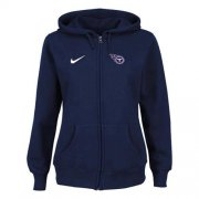 Wholesale Cheap Nike Tennessee Titans Ladies Tailgater Full Zip Hoodie Blue