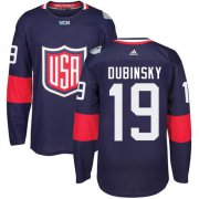Wholesale Cheap Team USA #19 Brandon Dubinsky Navy Blue 2016 World Cup Stitched Youth NHL Jersey