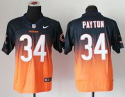 Wholesale Cheap Nike Bears #34 Walter Payton Navy Blue/Orange Men's Stitched NFL Elite Fadeaway Fashion Jersey
