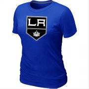 Wholesale Cheap Women's Los Angeles Kings Big & Tall Logo Blue NHL T-Shirt