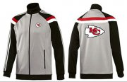 Wholesale NFL Kansas City Chiefs Team Logo Jacket Grey