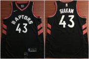 Wholesale Cheap Toronto Raptors 43 Pascal Siakam Black Nike Swingman Jersey