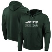 Wholesale Cheap New York Jets Majestic Hyper Stack Full-Zip Hoodie Green