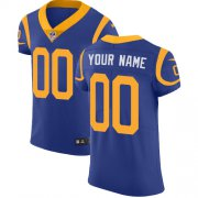 Wholesale Cheap Nike Los Angeles Rams Customized Royal Blue Alternate Stitched Vapor Untouchable Elite Men's NFL Jersey
