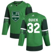 Wholesale Cheap Los Angeles Kings #32 Jonathan Quick Men's Adidas 2020 St. Patrick's Day Stitched NHL Jersey Green.jpg.jpg