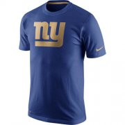 Wholesale Cheap Men's New York Giants Nike Royal Championship Drive Gold Collection Performance T-Shirt