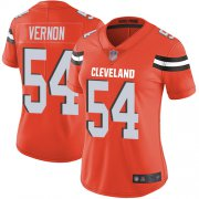 Wholesale Cheap Nike Browns #54 Olivier Vernon Orange Alternate Women's Stitched NFL Vapor Untouchable Limited Jersey
