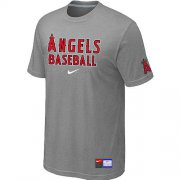 Wholesale Cheap Los Angeles Angels Nike Short Sleeve Practice MLB T-Shirt Light Grey
