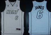 Wholesale Cheap Miami Heats #6 LeBron James Revolution 30 Swingman White Big Color Jersey
