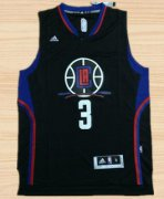 Wholesale Cheap Men's Los Angeles Clippers #3 Chris Paul Revolution 30 Swingman 2015-16 Black Jersey