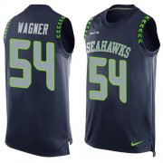 Wholesale Cheap Nike Seahawks #54 Bobby Wagner Steel Blue Team Color Men's Stitched NFL Limited Tank Top Jersey