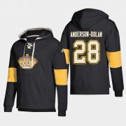 Wholesale Cheap Los Angeles Kings #28 Jaret Anderson-Dolan Black adidas Lace-Up Pullover Hoodie