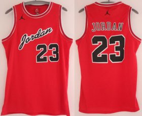 Wholesale Cheap Chicago Bulls #23 Michael Jordan Red Commemorative Swingman Jersey