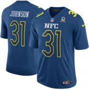 Wholesale Cheap Nike Cardinals #31 David Johnson Navy Men's Stitched NFL Game NFC 2017 Pro Bowl Jersey