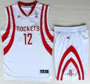 Wholesale Cheap Houston Rockets #12 Dwight Howard White Revolution 30 Swingman NBA Jerseys Shorts Suits