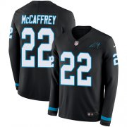 Wholesale Cheap Nike Panthers #22 Christian McCaffrey Black Team Color Youth Stitched NFL Limited Therma Long Sleeve Jersey