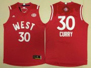 Wholesale Cheap 2015-16 NBA Western All-Stars Men's #30 Stephen Curry Revolution 30 Swingman Red Jersey