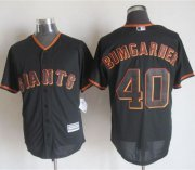 Wholesale Cheap Giants #40 Madison Bumgarner Black New Cool Base Stitched MLB Jersey