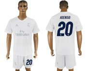 Wholesale Cheap Real Madrid #20 Asensio Marine Environmental Protection Home Soccer Club Jersey