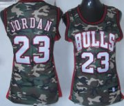 Wholesale Cheap Chicago Bulls #23 Michael Jordan Camo Fashion Womens Jersey